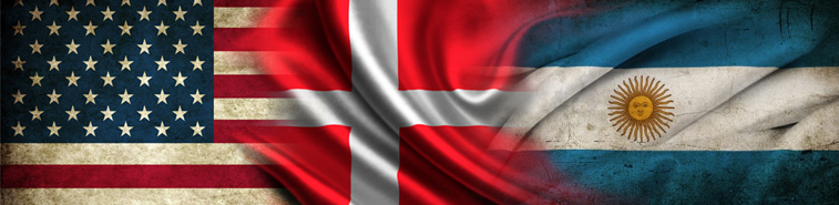 US, Danish and Argentinian flags - read about the project